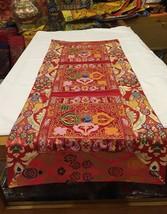 Tibetan Red Double Dorje silk brocade table runner/ shrine cover /altar ... - $25.00