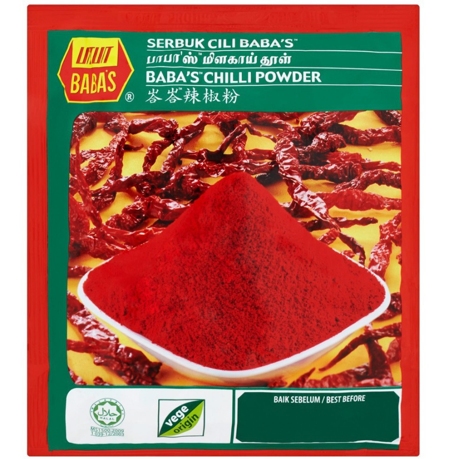 Primary image for 5 PACKETS 250GRAM BABA*S CHILLI POWDER (8.82oz) HALAL EXPEDITED SHIPPING DHL