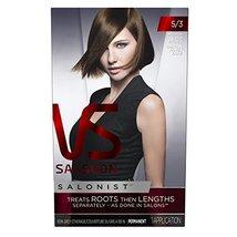 Vidal Sassoon Salonist Hair Colour Permanent Color Kit, 5/3 Medium Gold ... - $16.30
