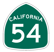 California State Route 54 Sticker Decal R1007 Highway Sign Road Sign - $1.45+