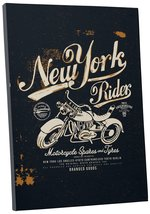 "Pingo World 0722QA4SHNM ""New York Rider Motorcycle"" Gallery Wrapped Canvas Wall  - $43.51"