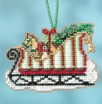 Toyland Sleigh 2017 Charmed Sleigh Ride Ornaments cross stitch kit  Mill Hil - $7.20