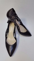 Nine West Shoes Kitten Heels Pumps Cut out Sides Black Womens Size 5.5 M - $45.50