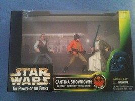 1997 Star Wars The Power of the Force Cantina Showdown 3 Pack - $17.25