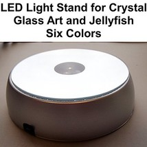LED Light Stand for Crystal Glass Art and Jellyfish Six Colors - $12.21