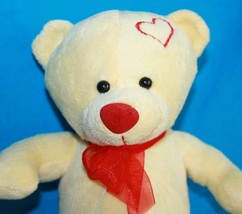 "Sugarloaf TEDDY BEAR 9"" Yellow Plush Valentine Stuffed Animal Red Hearts... - $11.64"