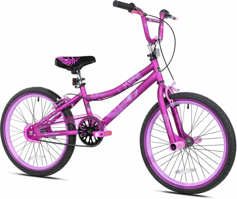 "Girls Bike 20"" Kids BMX Bicycle Satin Purple Outdoor Cycling Toys Single Speed - $166.93"