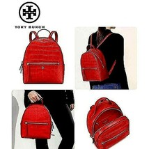 NWT! TORY BURCH WOMEN'S RED CROC EMBOSSED MINI BACKPACK MSRP $495 - $327.23