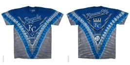 New Kansas City Royals Tie Dye V Dye T-Shirt Mlb Licensed Apparel Majestic - $24.99