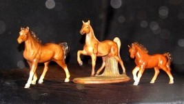 Horse Figurines AA18 - 1024 Set of 3 Vintage Collectible