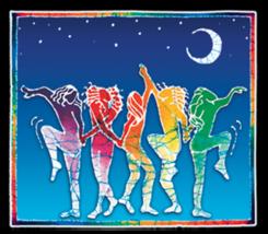 Moon Dancer Batik  Sticker Deadhead  Car Decal  Hippies - $5.49