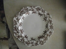 J & G Meakin Trellis Brown dinner plate 1 available - $3.47