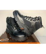 NIB SIZE 7.5 MENSkechers WASCANA 77160 Black Lace-Up Waterproof Work Boo... - $49.49