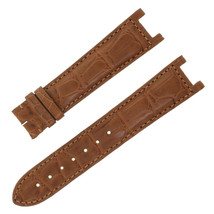 Cartier KD22BK12 20-18mm Genuine Alligator Leather Matte Brown Watch Strap - $349.00