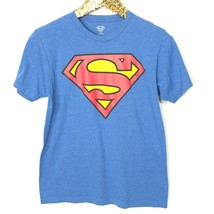 Superman T-Shirt Shirt Size S Small Blue Short Sleeve - $12.67