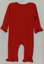 Blanks Boutique Long Sleeve Red Snap Up Ruffled Romper 12 months image 2