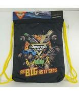 MONSTER JAM Drawstring Backpack THRASHER carry sack (j) - $19.80