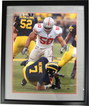 Vernon Gholston signed Ohio State Buckeyes 16x20 Photo Custom Black Fram... - $98.95