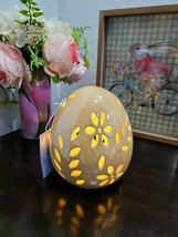 "EASTER LIGHT UP YELLOW EGG FIGURINE TABLETOP DECOR 6"" - $24.74"