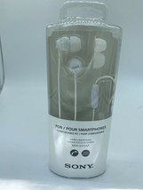 White Sony MDR-EX15AP Fashion Headphone Earbud Microphone Ex Voice Command - $5.93