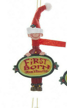 Kurt S. Adler Mom's Favorite First Born Boy Hand Painted Christmas Ornament - $7.88
