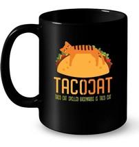 Cute Cinco De Mayo Taco Cat Tacocat Spelled Backwards Gift Coffee Mug - $13.99+