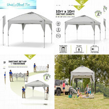 CORE 10' x Instant Shelter Pop-Up Canopy Tent with Wheeled Carry Bag Gray - $218.81 CAD