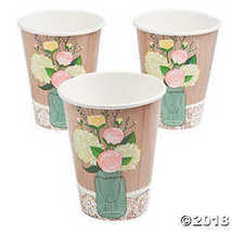 Rustic Wedding 12oz Hot/Cold Cups (8 ct) - $3.24