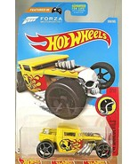 2017 Hot Wheels #306 HW Daredevils 7/10 BONE SHAKER Yellow Variant w/Gra... - $9.50
