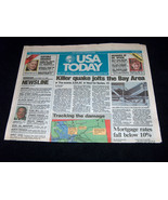 USA Today Ottobre 18 1989 Earth Quake Jolts San Francisco World Serie Gi... - $45.52