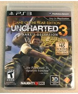 Uncharted 3 Drake's Deception (Sony PlayStation 3, 2012) PS3 Game - $5.99
