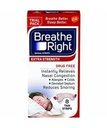 Breathe Right Extra Strength Nasal Strips, Drug-Free, Tan, 8 Count Pack - $5.99