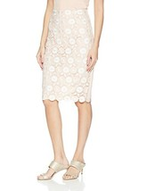 Calvin Klein Women's Lace Pencil Skirt (12|Blush) - $86.79
