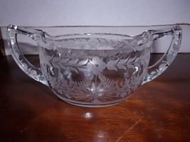Beautiful Cut Glass Creamer and Sugar Bowl - $24.99