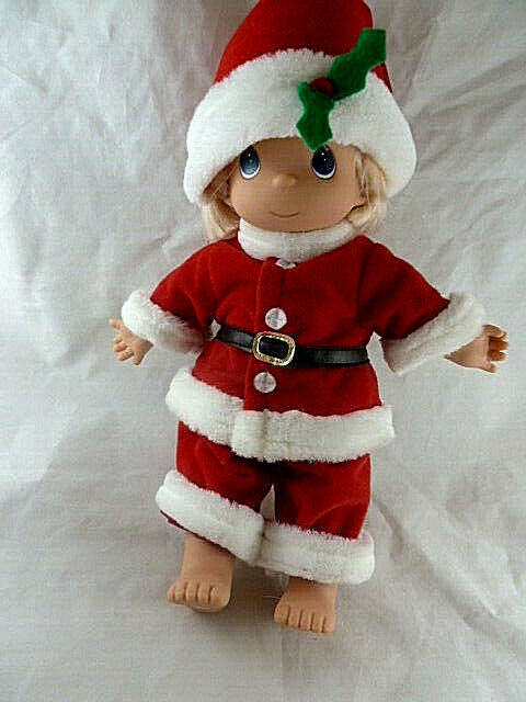 "Primary image for Precious Moments Santa Doll 12"" Tall Christmas 1998"