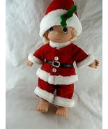 "Precious Moments Santa Doll 12"" Tall Christmas 1998 - $14.84"