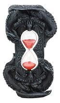 Ebros Invertible Chronos Gothic Twin Dragons Sand Timer Figurine Dragon Hourglas - $24.99