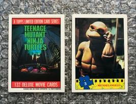 1990 Topps Teenage Mutant Ninja Turtles TMNT Movie Trading Cards Lot: #1 & #3 - $3.13