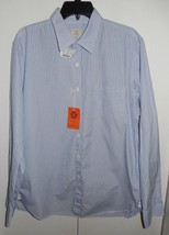 NEW W/Tags J. Crew Light Blue Striped Long Sleeve Button Front Shirt Siz... - $29.94