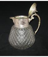 Vintage Cut Glass - Rare Glassware Diamond Cut Silver Plated Water Wine ... - $124.99