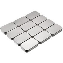Shappy 12 Pack Basic Necessities Tins Silver Rectangular Empty Tins Stor... - $17.19