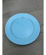 "Vintage Harlequin Turquoise 7"" Plate Some Marks And Issues - $8.00"