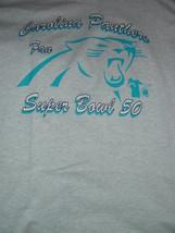 Carolina Panthers Fan Super Bowl 50 T-Shirt Size Large - $17.00