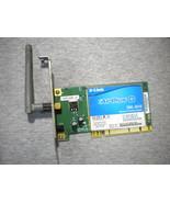 DWL-G510 D-LINK AIR PLUS WIRELESS WIFI Card G PCI LOW profile Half Heigh... - $14.85