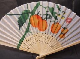 Oranges Fruit Silk Handheld Fan Folding Fans Asian Hand Fan - $9.99