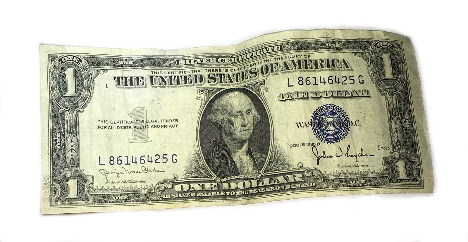 1935 D One Dollar US Silver Certificate