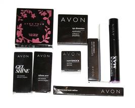 Avon Makeup Set 9 pcs, lipsick, pearls, mascara, eye shadow, Pur Blanca, Shadow - $54.45