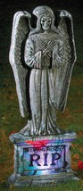 Tombstone Gothic 24 Inch Light Up Angel Sculpture Funworld - £17.99 GBP