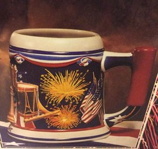 Budweiser Let Freedom Ring Ceramic Stein Anheuser Busch  American Indepe... - $29.09