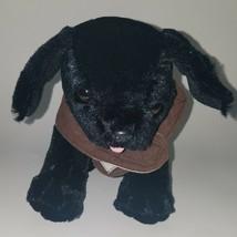 Melissa & Doug Black Lab Puppy Dog Plush Labrador Retriever Brown Vest Service - $15.79